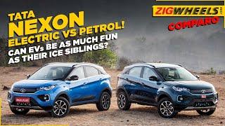 Tata Nexon EV vs Tata Nexon Petrol I Drag Race, Handling Test And A Lot More!