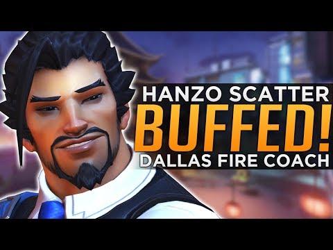 Overwatch: Hanzo Scatter BUFFED! - Dallas Fuel FIRE Head Coach!
