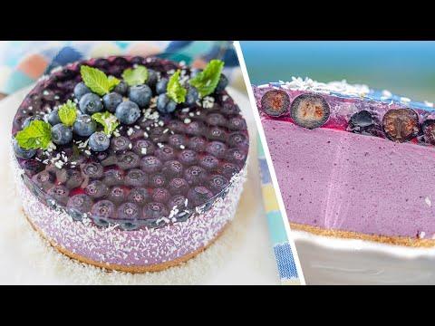 Делайте с любой ягодой!   МУССОВЫЙ ЧИЗКЕЙК БЕЗ ВЫПЕЧКИ с голубикой   ягодный торт
