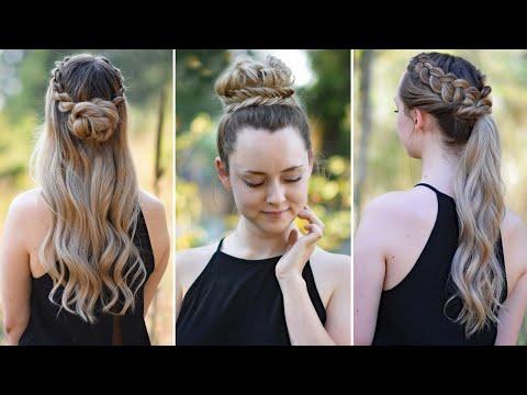 3 Easy DIY Hairstyles | Back to School | Cute Girls Hairstyles