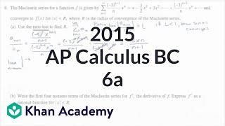 2015 AP Calculus BC 6a