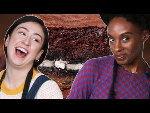No Recipe Challenge: Oreo Cookie Brownies ? Tasty