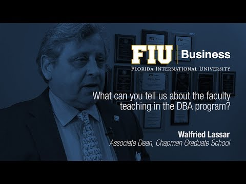What can you tell us about the faculty teaching in the DBA program?