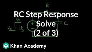 RC step response 2 of 3 solve