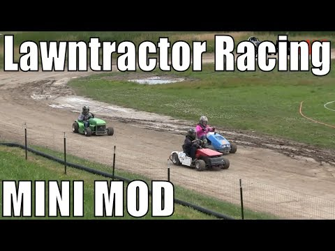 Mini Modified Class Lawntractor Racing At Western Ontario Outlaws July 21 2019