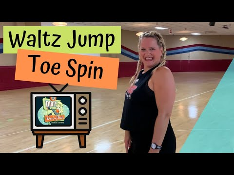How to Do a Waltz Jump / Toe Spin Roller Skate Combo