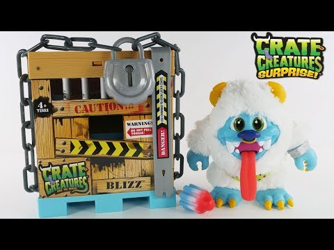 connectYoutube - New Surprise Toy Crate Creatures Blizz | Unboxing and Review by DCTC's Amy Jo