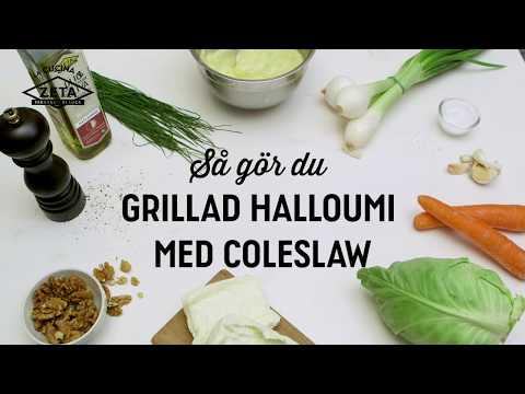 Grillad halloumi med coleslaw
