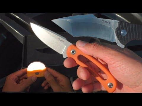 Ножи RUIKE F815 и P851-B. Фонарь Fenix CL20R photo