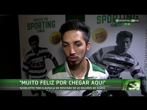Apresentação de Ezequiel Schelotto - Sporting TV (20/11/2015)