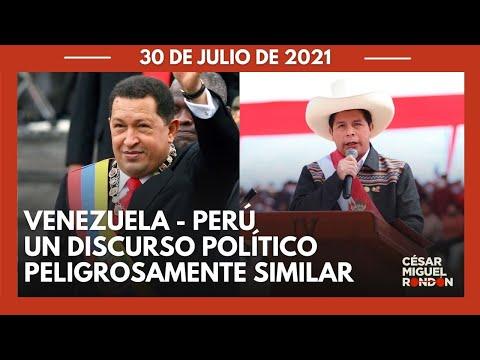 TV  El discurso y narrativa de Chávez retumban en Perú con Pedro Castillo