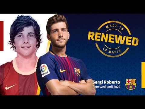 Sergi Roberto renews with FC Barcelona until 2022