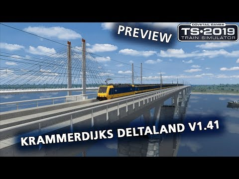 Train Simulator 2019: Preview Krammerdijks Deltaland v1.41 (Dam Tot Dijk Express naar IJdam)