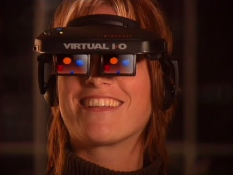 What was virtual reality like in the 90s? (Virtual i-O i-glasses) (Electronic Press Kit) [1995]