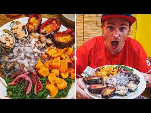 Trying EXOTIC KOREAN SEAFOOD in Busan | Eating Squirming RAW OCTOPUS in Korea