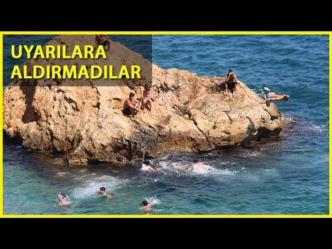 Konyaaltı Sahili'nde Tehlikeli Atlayış