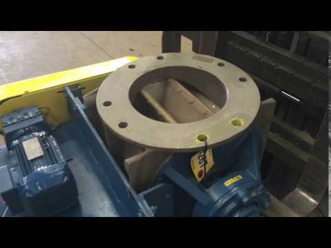 "Used 12"" Diameter Flotronics Stainless Steel Rotary Airlock Valve"