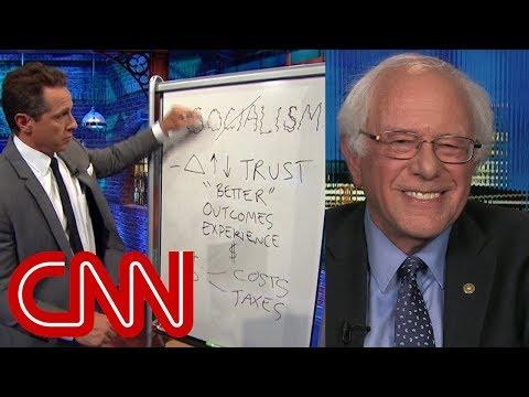 CNN Host Uses Dumb Right-Wing Talking Points & White Board To Debate Bernie