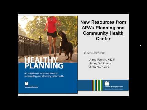 New Resources from APA's Planning and Community Health Center