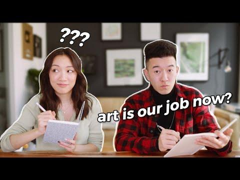 ARTIST VS. ARTIST! *we went to high school together??*