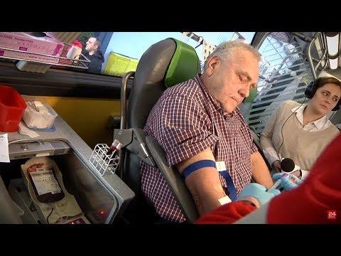 Rekordzista w ilości oddanej krwi. 100 litrów od 1971 roku!