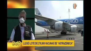 Vacuna covid-19: Presidente Sagasti recibió lote de 276 mil dosis de AstraZeneca
