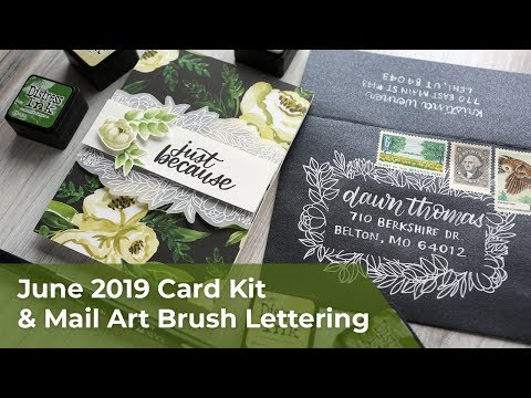 Watercolor Look with Blender Pen & Mail Art Brush Lettering