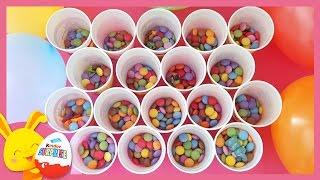 Gobelets d'anniversaire surprises avec bonbons Smarties - Touni toys - Titounis