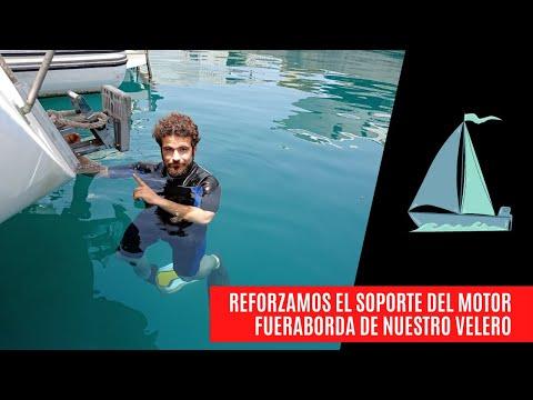 MANTENIMIENTO DEL BARCO EN EL AGUA - Desarmamos y volvemos a armar el soporte fueraborda del velero⛵