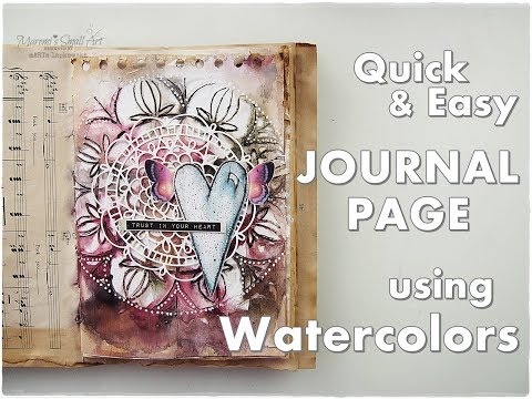 Abstract Journal Page Tutorial using Watercolors ♡ Maremi's Small Art ♡