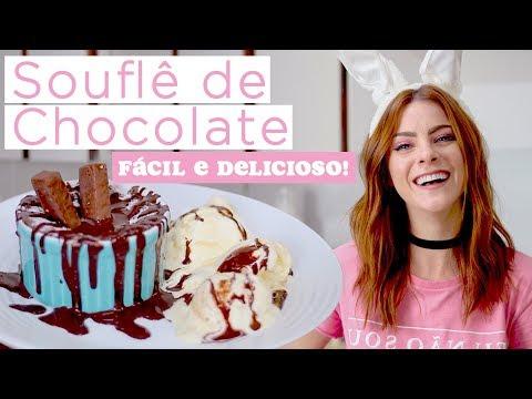 Souflé de Chocolate – Super Fácil e Delicioso