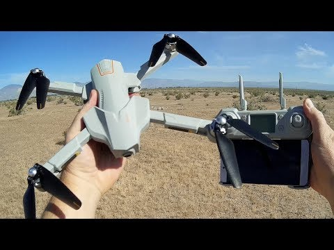 Global Drone GW90 GPS Brushless Folding Camera Drone Flight Test Review