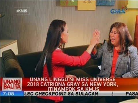 UB: Unang linggo ni Miss Universe 2018 Catriona Gray sa New York, itinampok sa KMJS