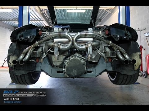 Reprogrammation Moteur Audi R8 4.2 V8 420hp @ Kriessieg F1 Sound System Exhaust