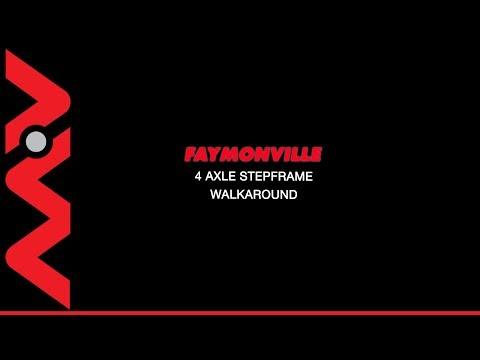 0194722017 Faymoville 4 Axle Step Trailer Walk Around