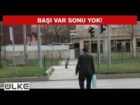 Erzurum'da bir garip yaya geçidi!