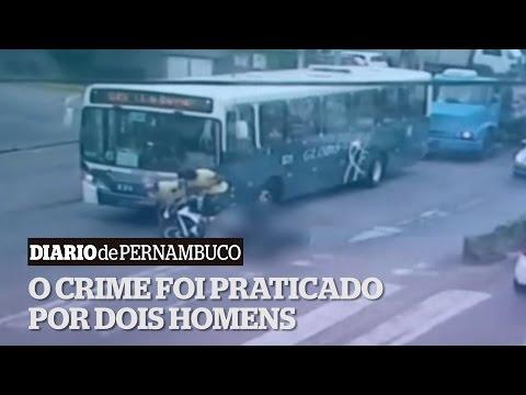 Imagens das c�meras de seguran�a mostram assassinato � luz do dia no Rosarinho