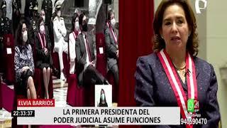 Elvia Barrios, la primera mujer en asumir la presidencia del Poder Judicial
