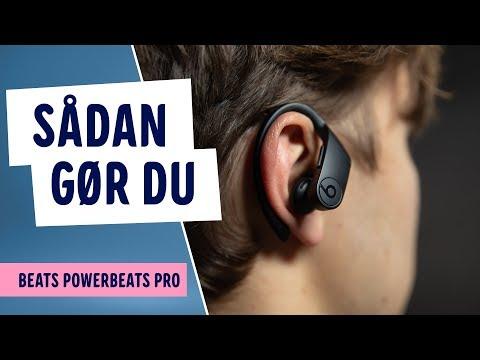 Sådan bruger du Beats Powerbeats Pro