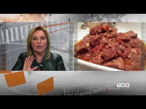 Chiara Manzi ospite al TG 4  Mangia che ti passa