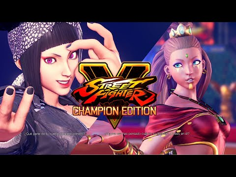 Street Fighter V MODS: Juri Biker Horn Round VS Menat Shaman Girl