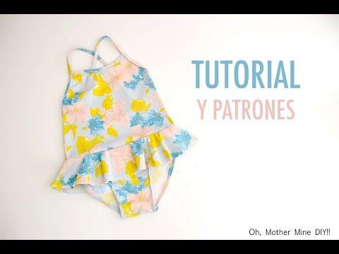 DIY Coser: bañador de niñas (patrones gratis)