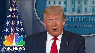 Trump Claims To Have 'Very Good' Relationship With Governors On Coronavirus Response | NBC News