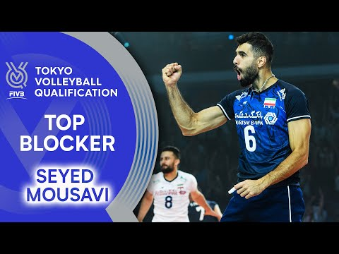 Seyed Mousavi is on fire at the net!   Top Scorer   Volleyball Olympic Qualification 2019