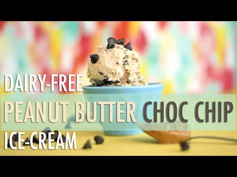 Peanut Butter Chocolate Chip Ice-Cream | Healthy & Dairy-Free Homemade Ice-Cream