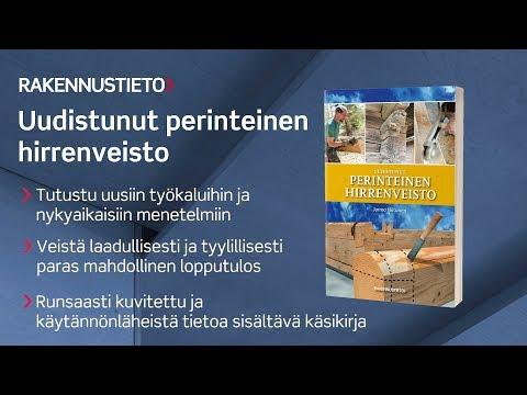 Uudistunut perinteinen hirrenveisto -kirja kertoo hyvin käytännönläheisesti uusista hirrenveiston menetelmistä sekä työkaluista ja on tarkoitettu niin ammattilaisille kuin harrastajillekin.