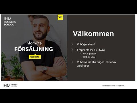 YH Infomöte - Försäljning