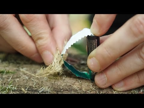 How To Make Fire With Chewing Gum Paper?!?