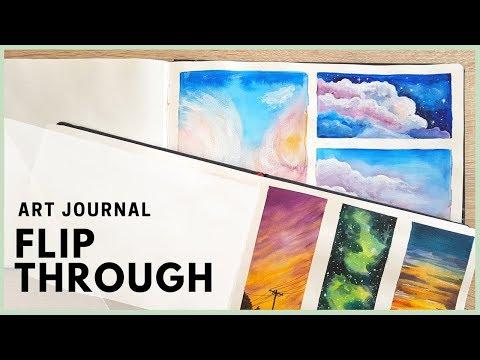 Art Journal Flip Through Live! Art Journal Thursday