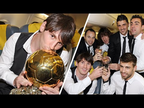 Messi wins 2nd Ballon d'Or (2011) with INIESTA, XAVI in the podium